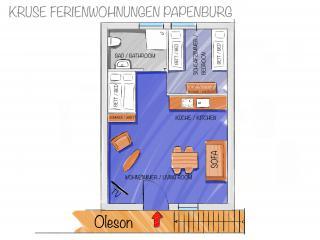 Oleson - Grundriss